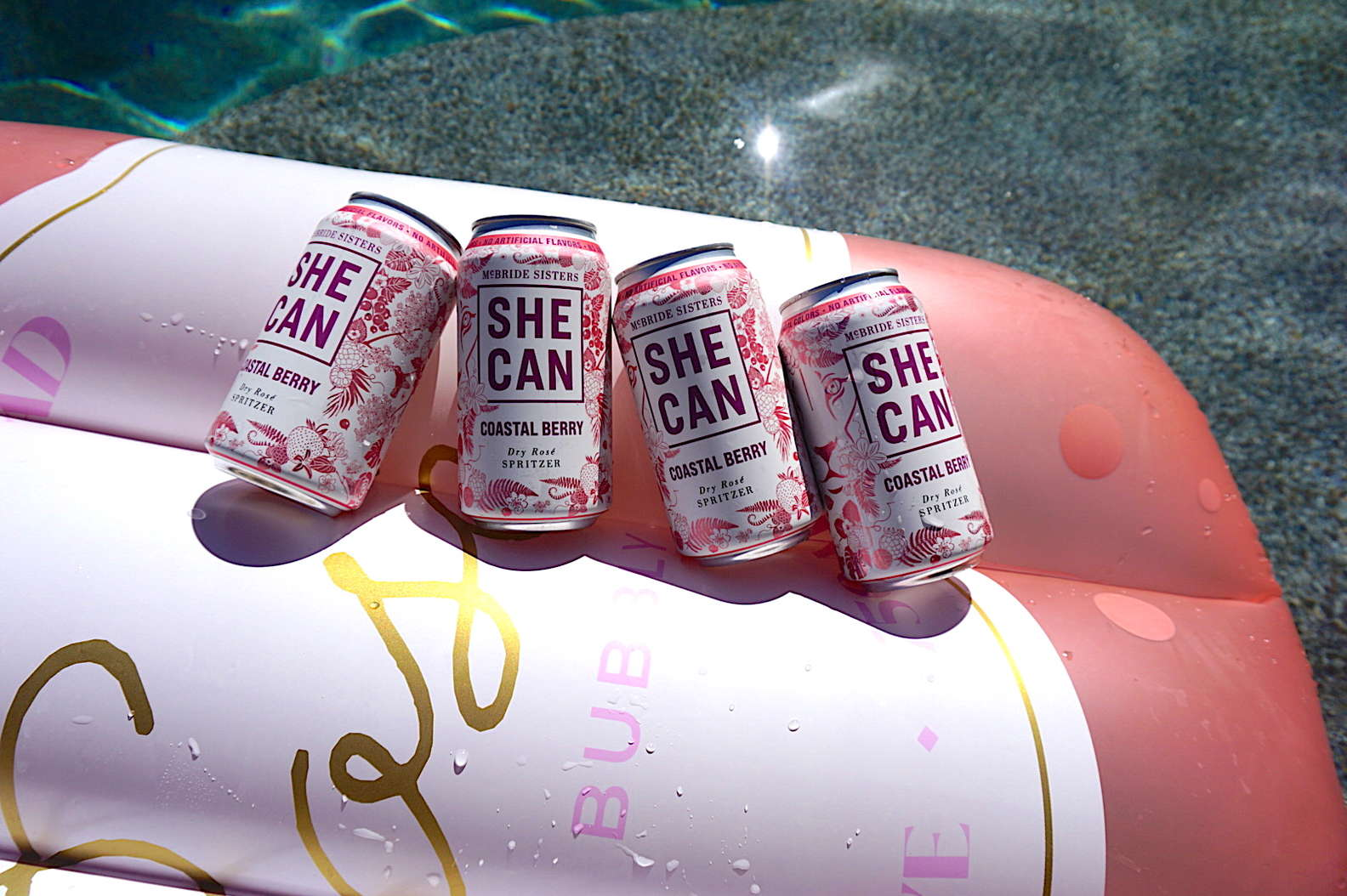 SHE CAN can wine coastal berry flavor can wine McBride Sisters