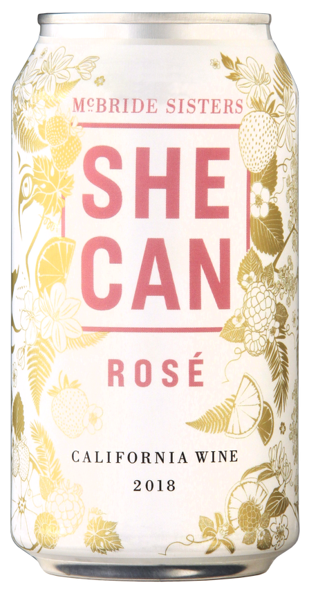 SHE CAN California Rose Wine 4-Pack
