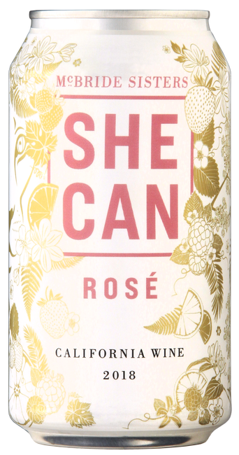 SHE CAN California Rosé Wine 4-Pack